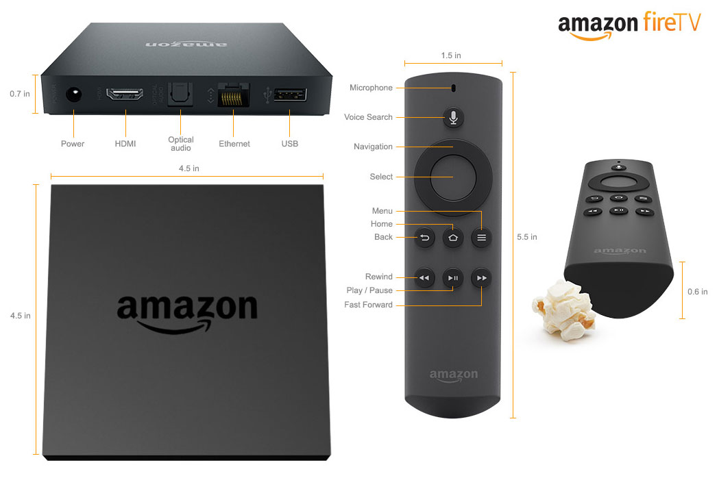 Amazon Fire TV Dimensions