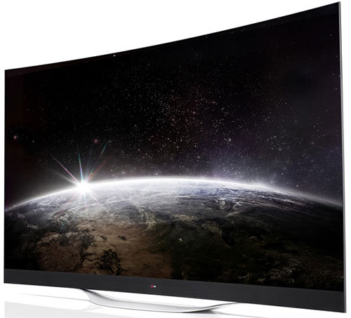 LG 65-inch EC9700 4K 3D Smart Curved OLED TV