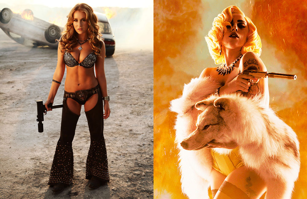 Machete Kills Alexa Vega and Lady Gaga