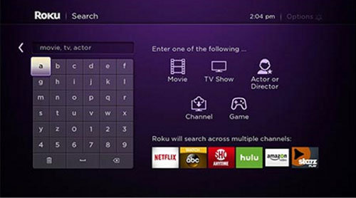 Roku Streaming Stick 2016 Search Screen