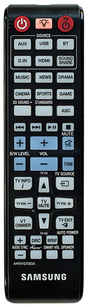 Samsung HW-850 Sound Bar Remote