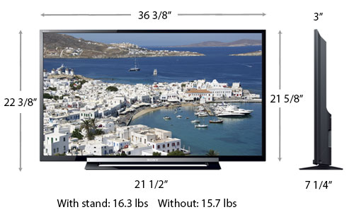 sony tv 40 inch. sony kdl-40r450 dimensions tv 40 inch