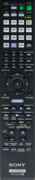 Sony STR-DN1040 Remote