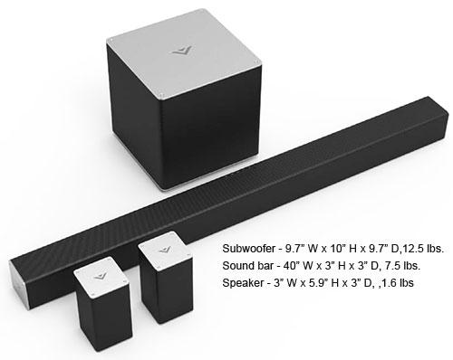 VIZIO S4051 Dimensions vizio sb4051 sound bar review Vizio VSB210WS Subwoofer at crackthecode.co